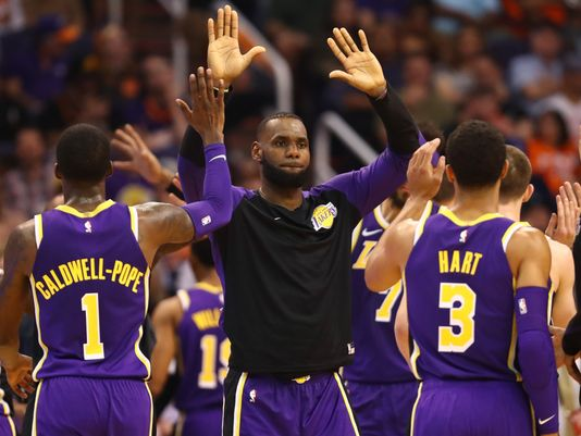 2a08ef1a4c7 Lakers were able to manage their first victory against Phoenix Suns by  131-113. LeBron led the seven key players of Lakers as he scored 19 points.