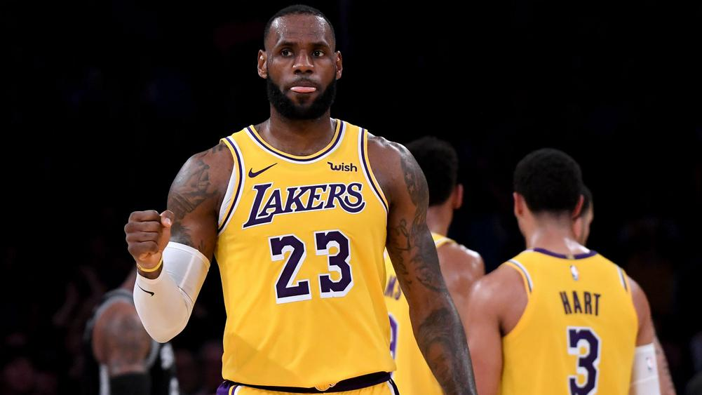check out 76908 a1d60 LeBron James makes the milestone but LA Lakers still ...